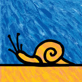 Snail painting Stock Image