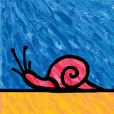 Snail painting Stock Photography