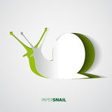 Snail papercut  illustration theme Stock Photography