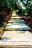 Snail Path - Singapore - Gardens by the Bay. Taken on a beautifully sunny day in Singapore, at the Garden's by the Bay. This is just one of many stair pathways Royalty Free Stock Photos