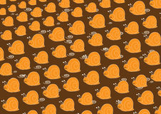 Snail pattern Royalty Free Stock Images
