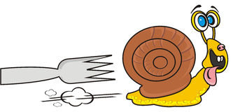 Snail quickly runs Stock Photo