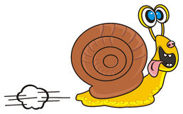 Snail quickly runs Royalty Free Stock Image