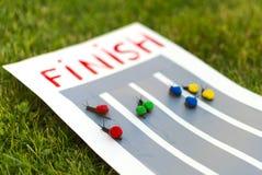 Snail race. Royalty Free Stock Photo
