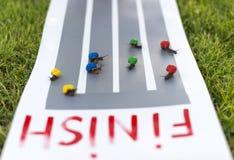 Snail race. Stock Image