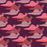 Purple and Pink Snail Race Silhouette Seamless royalty free illustration