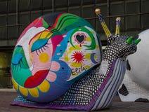 Snail in riga Royalty Free Stock Image