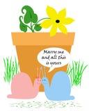 Snail romance Stock Photos