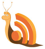 Snail rss icons Stock Images