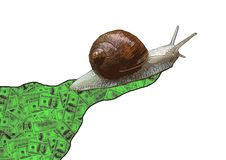 Snail's pace Royalty Free Stock Images