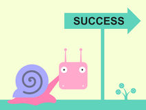 Snail's way Stock Image