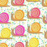 Snail seamless Stock Images