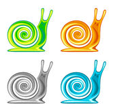 Snail set Stock Image