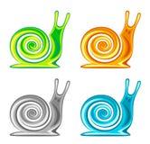 Snail set. On a white background Stock Image