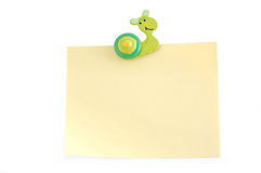 Snail on a sheet Royalty Free Stock Photos