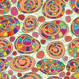 Snail shell abstarct seamless pattern Royalty Free Stock Photography