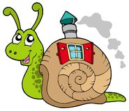 Snail with shell house Royalty Free Stock Images