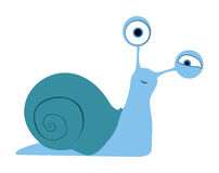 Snail with shell Royalty Free Stock Images