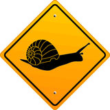 Snail sign. Step, symbol traffic Stock Images