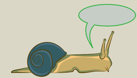 Snail/Slug Vector Comic Art Design. Snail/Slug Comic Vector Design Art Royalty Free Stock Images