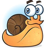 Snail Smiling Cartoon Character Stock Photography