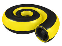 Snail with the sound speaker Stock Image