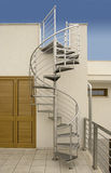 Snail stair. Stainless steel external Snail stair Stock Photos