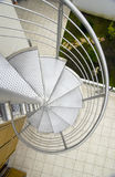 Snail stair. Stainless steel external Snail stair Royalty Free Stock Image