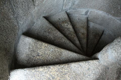 Snail of stairs. Leading ibto the darkness Royalty Free Stock Image