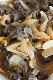 Snail stew. Stew of snail close up as background royalty free stock photos