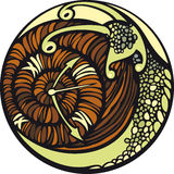 Snail and the time. Snail moves so slowly... And it seems, that time is stopped Stock Photography