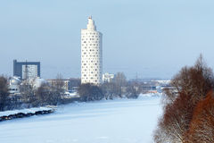 Snail-Tower (Tigutorn) - building in Tartu Royalty Free Stock Image