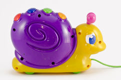 Snail toy. On white background Royalty Free Stock Photography