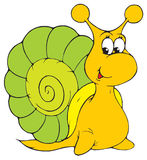 Snail (vector clip-art) Royalty Free Stock Photography