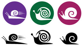 Snail. Vector icon set. Snail. Vector silhouette icon set Royalty Free Illustration
