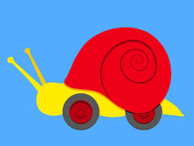 Snail with wheels Stock Image