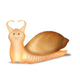 Snail on white background Royalty Free Stock Photo