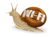 Snail and Wireless Symbol (clipping path included) Stock Photography