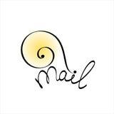 Snailen postar. Begreppsillustration Royaltyfri Fotografi