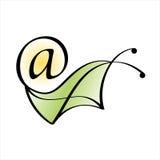 Snailen postar. E-postsymbol Royaltyfria Foton