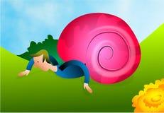 Snailman stock de ilustración