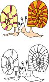snails Arkivfoton