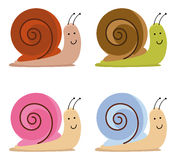 Snails. Set of cute color snails Royalty Free Stock Photo