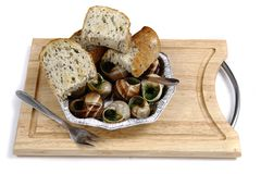 Snails as gourmet food Stock Photography