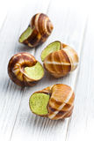 Snails with butter and parsley Royalty Free Stock Photography