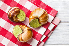 Snails with butter and parsley Stock Photography