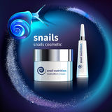 Snails Cosmetic Advertising Template Royalty Free Stock Photography