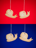 Snails gingerbread cookies Royalty Free Stock Photography