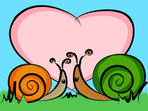 Snails in love Royalty Free Stock Images