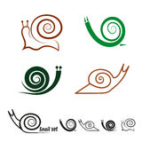 Snails set. Collection of vector icons. Stock Image